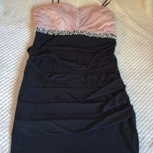 Pink and Black Cocktail Dress